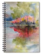 Red Lake Reflection #2 Spiral Notebook