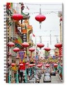 Red Lanterns Of Chinatown Spiral Notebook