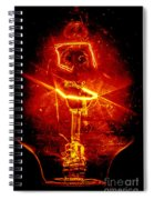 Red Light Abstract Spiral Notebook