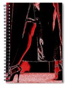 Red Light Black Dress Spiral Notebook