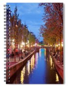Red Light District In Amsterdam Spiral Notebook