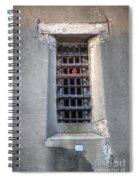 Red Light Jail Window Spiral Notebook