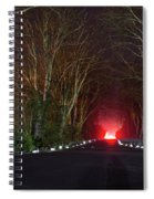 Red Light, Smoke And Flames Glowing Spiral Notebook