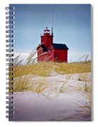 Red Lighthouse By Holland Michigan Known As Big Red Spiral Notebook