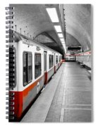 Red Line Spiral Notebook