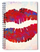 Red Lips Watercolor Painting Spiral Notebook