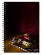 Red Masque Spiral Notebook