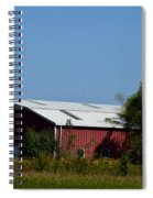 Red Metal Barn Spiral Notebook