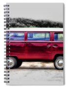 Red Microbus Spiral Notebook