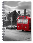 Red Midland Bus And Sheep - 1960's    Ref-126 Spiral Notebook