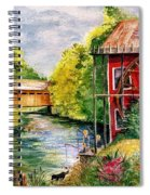 Red Mill At Waupaca Spiral Notebook