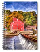 Red Mill Painted Spiral Notebook