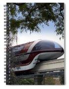 Red Monorail Disneyland 01 Spiral Notebook