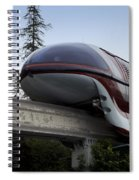 Red Monorail Disneyland 02 Spiral Notebook