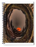 Red Moon Rising - Abstract - Triptych Spiral Notebook