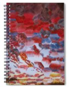 Red Morning With Two Ducks Spiral Notebook