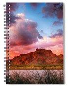 Red Mountain Sunset Spiral Notebook