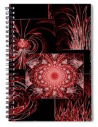 Red Neon Collage Spiral Notebook