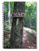 Red North Sign Spiral Notebook