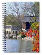 Red October On The Lake Spiral Notebook