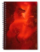 Red On Red Horse Spiral Notebook