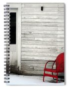Red On White Spiral Notebook