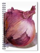 Red Onion Spiral Notebook