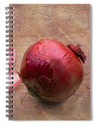 Red Onions On Barnboard Spiral Notebook