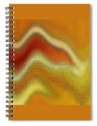 Red Orange And Yellow Glass Waves Spiral Notebook