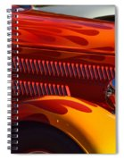 Red Orange And Yellow Hotrod Spiral Notebook