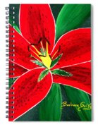 Red Oriental Daylily Spiral Notebook