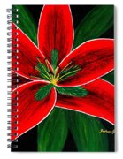 Red Oriental Lily Spiral Notebook