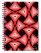Red Ornament IIi Spiral Notebook