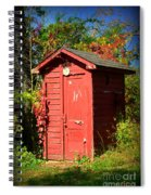 Red Outhouse Spiral Notebook