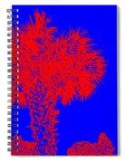 Red Palm Spiral Notebook