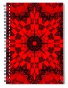 Red Patchwork Art Spiral Notebook