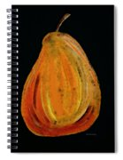 Red Pear - Delicious Modern Fruit Food Art Print Spiral Notebook