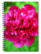 Red Peony Flower Spiral Notebook