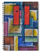 Red Pillars Spiral Notebook
