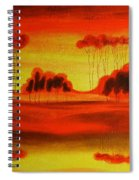 Red Planet Spiral Notebook