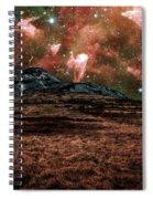 Red Planet Spiral Notebook