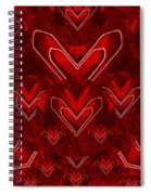 Red Pop Art Hearts Spiral Notebook