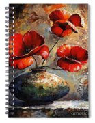 Red Poppies 02 Spiral Notebook