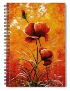 Red Poppies 023 Spiral Notebook