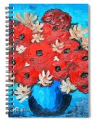 Red Poppies And White Daisies Spiral Notebook