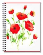 Red Poppies Botanical Design Spiral Notebook