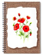 Red Poppies Decorative Collage Spiral Notebook