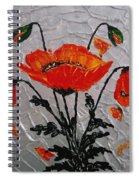 Red Poppies Original Palette Knife Spiral Notebook