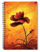 Red Poppy 012 Spiral Notebook