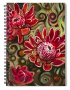 Red Proteas Spiral Notebook